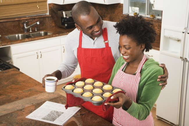 African American couple muffins