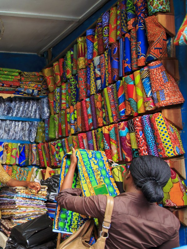 African fabric market