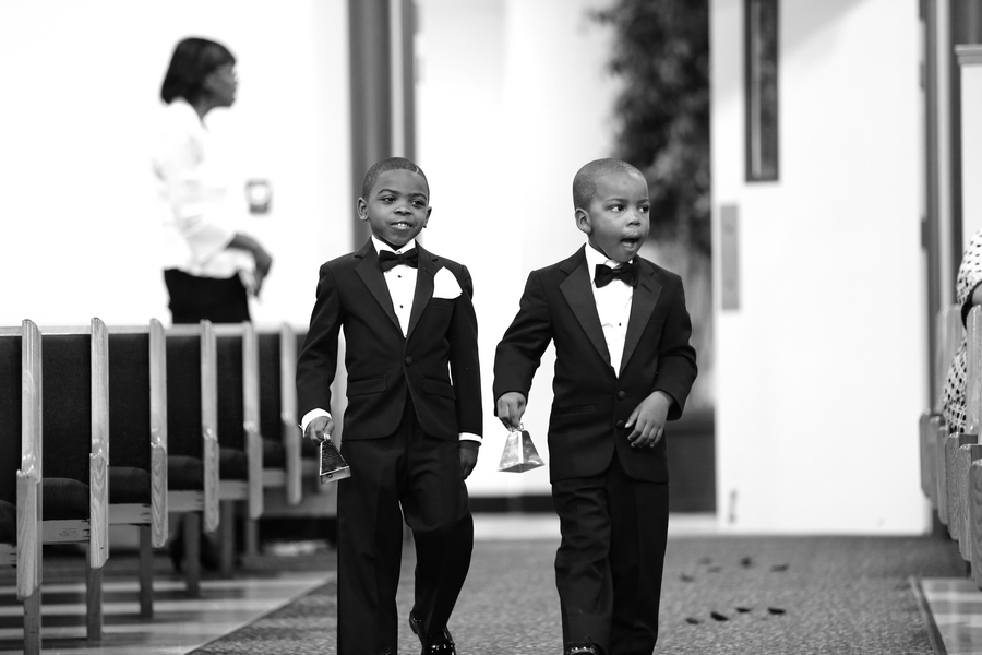 Black and White African American Wedding | Jazzymae Photography 14