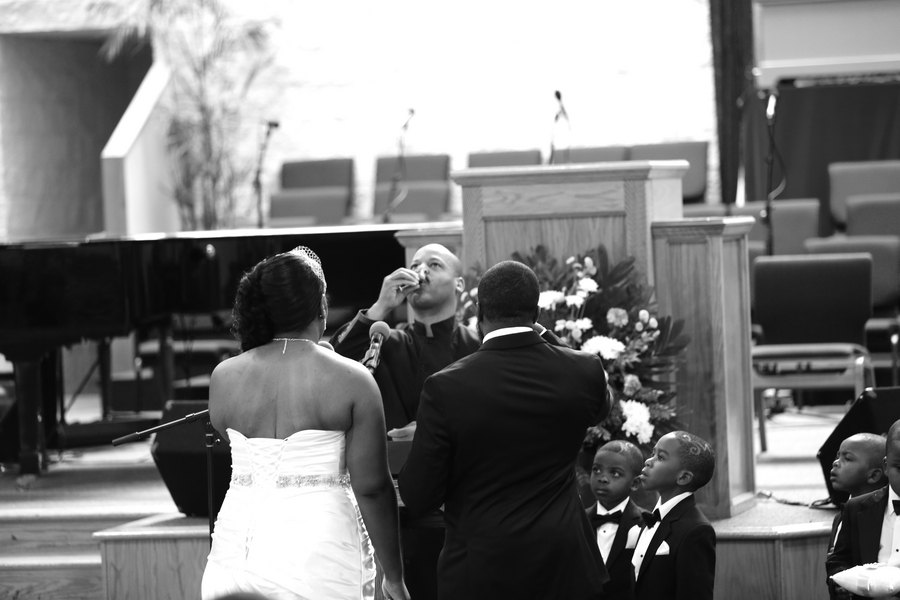 Black and White African American Wedding | Jazzymae Photography 17