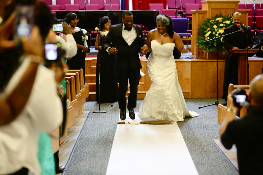 Black and White African American Wedding | Jazzymae Photography 19