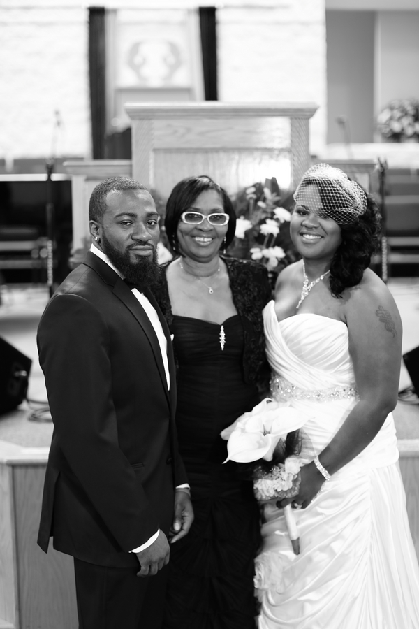 Black and White African American Wedding | Jazzymae Photography 22