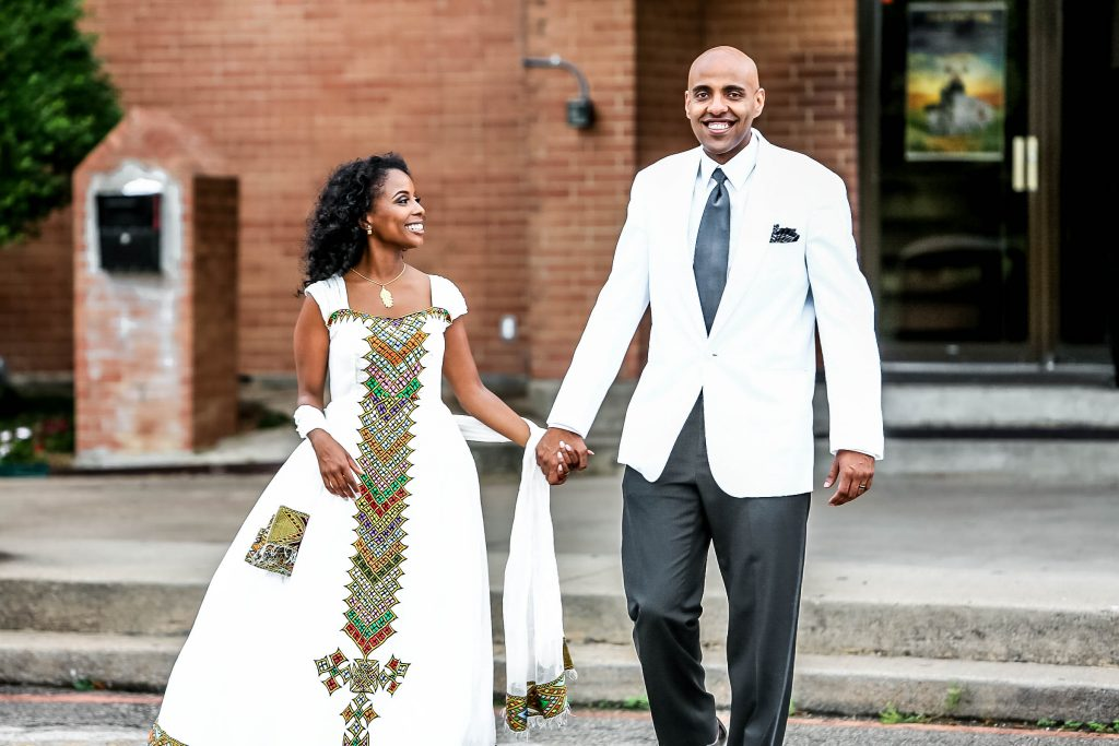 Royal Purple Ethiopian American Wedding | Double You Photos 01