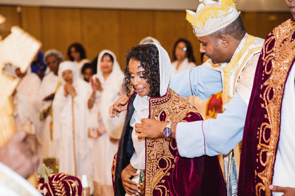 Royal Purple Ethiopian American Wedding | Double You Photos 05