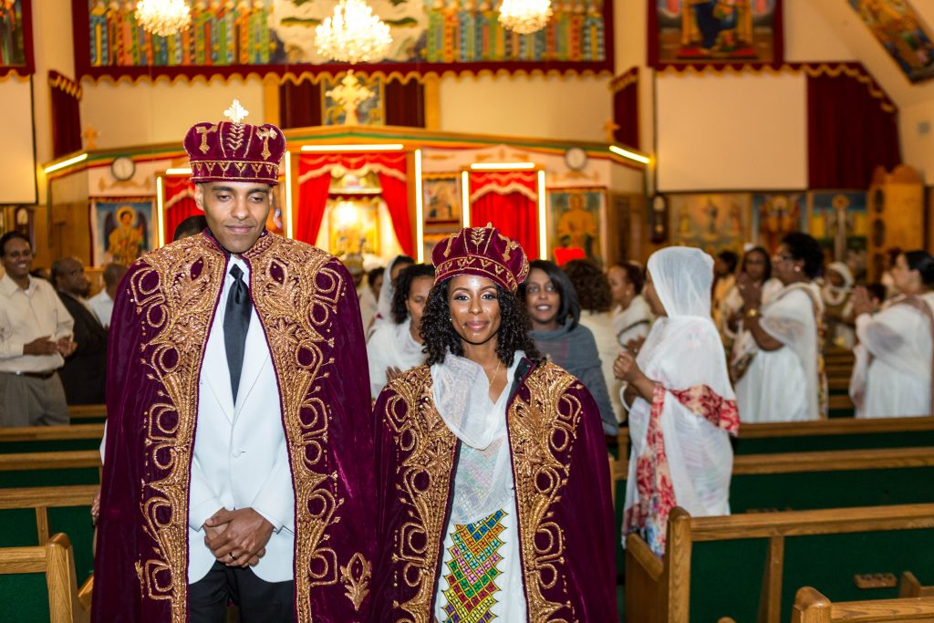 Royal Purple Ethiopian American Wedding | Double You Photos 07