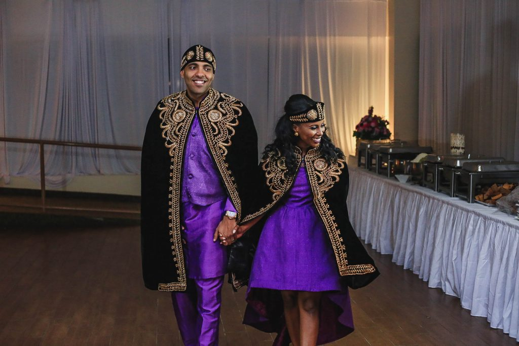 Royal Purple Ethiopian American Wedding | Double You Photos 41