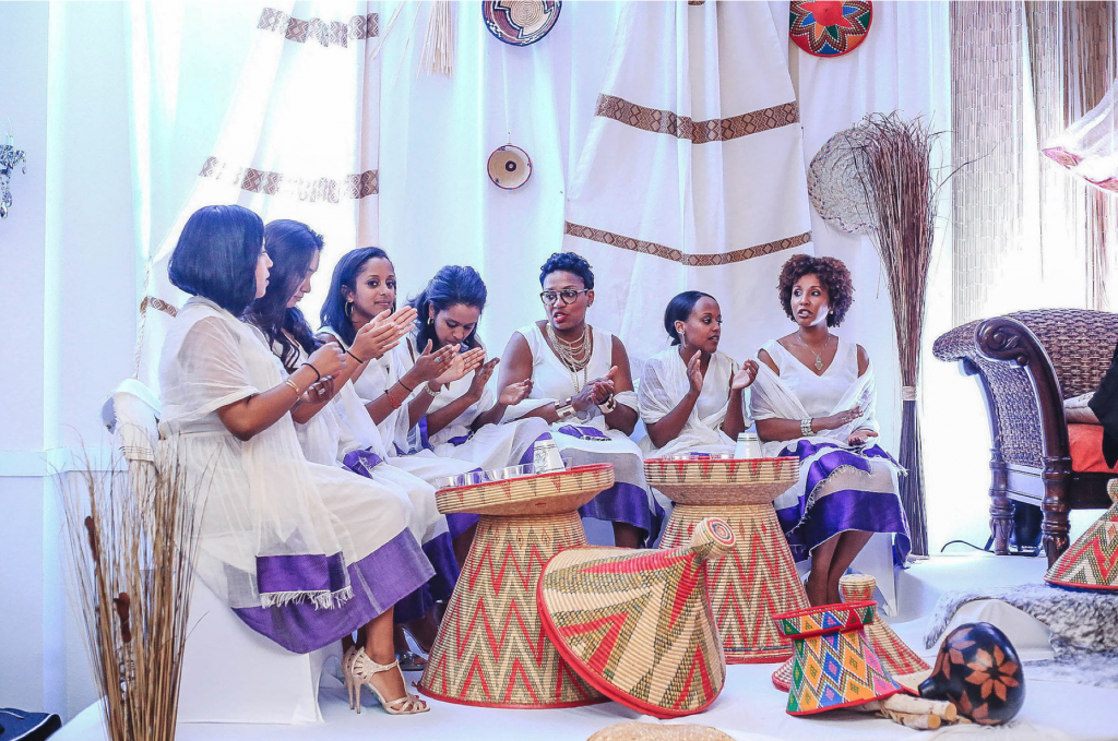A Royal Purple Ethiopian American Wedding The Big Fat African Wedding