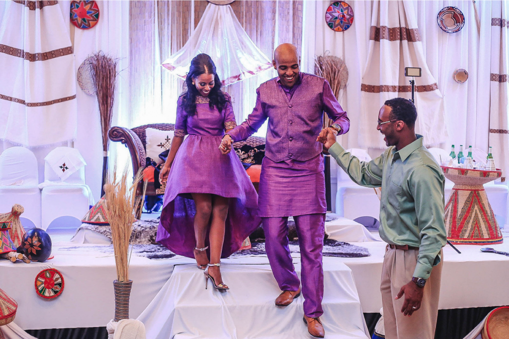 Royal Purple Ethiopian American Wedding | Double You Photos 46