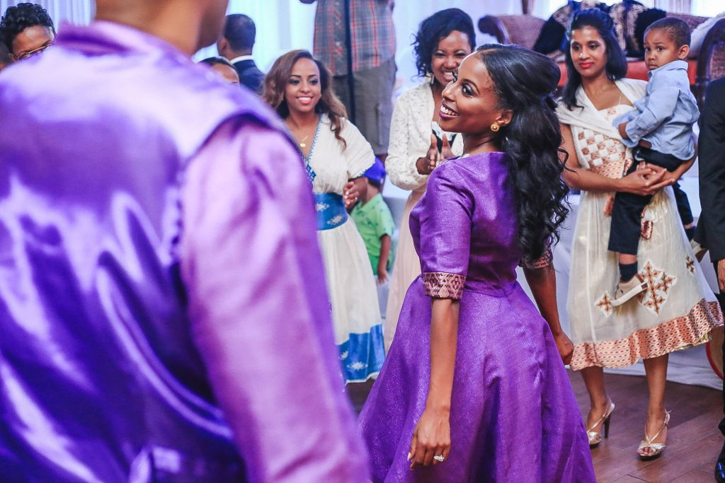 Royal Purple Ethiopian American Wedding | Double You Photos 47