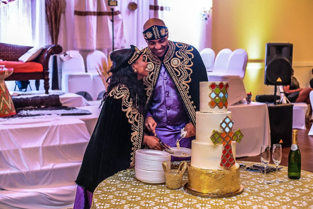 Royal Purple Ethiopian American Wedding | Double You Photos 49